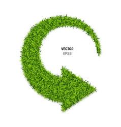 Green grass arrow vector