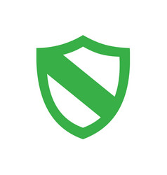 green protection shield icon on a white background vector image