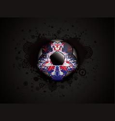 grunge black soccer deisgn vector image