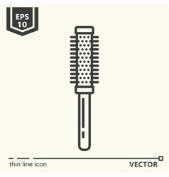 Hairdressing tools Icons series Round comb vector