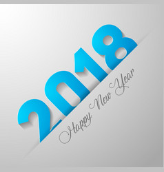 happy new year 2018 text desain vector image