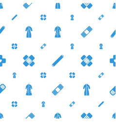 Heal icons pattern seamless white background vector