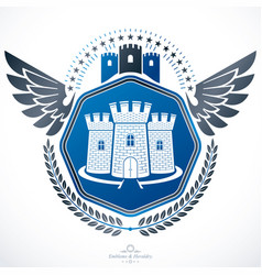 Heraldic emblem isolated vector
