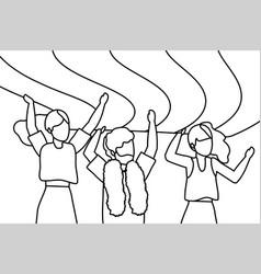 Homosexual proud cartoon vector
