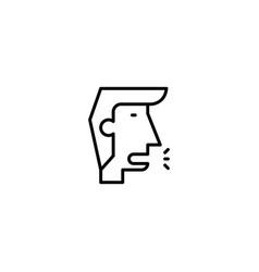 Human cough icon vector