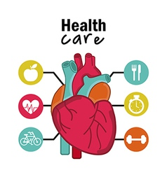 Infographics cardiology design over white vector