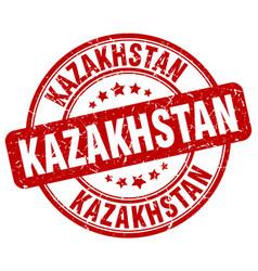 Kazakhstan red grunge round vintage rubber stamp vector