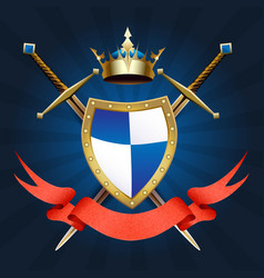 knight coat of arm vector image