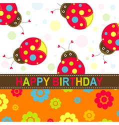Ladybug Birthday Card vector