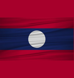 laos flag flag of laos blowig in the wind eps 10 vector image