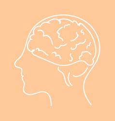 line icon- brain flat vector image