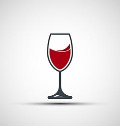 logo wineglass vector image
