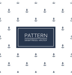 Marine seamless minimalistic pattern anchors vector