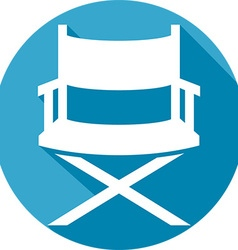 Movie Director Chair Icon vector image