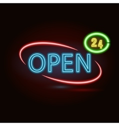 Neon sign vector image vector image