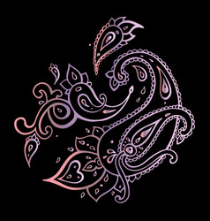 Paisley ethnic ornament hand drawn vector