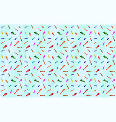 pattern with fish bones vector image