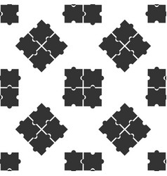 piece puzzle icon isolated seamless pattern on vector image