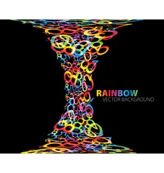 rainbow number background vector image
