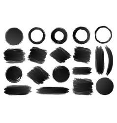ring circle and shapes watercolor texture vector image