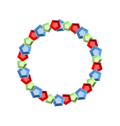round frame gems precious stones treasures vector image