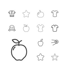 Rounded icons vector