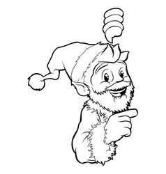 Santa pointing christmas vector