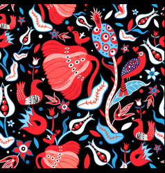 Seamless floral bright pattern vector