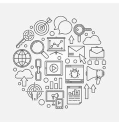 SEO and internet marketing vector