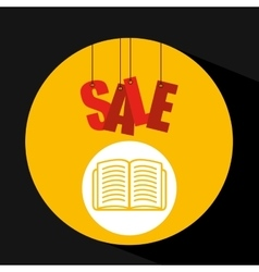 Shopping cart sale book icon vector