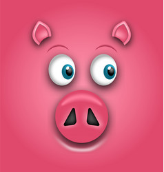 Smiling face of pig symbol of chinese new year vector