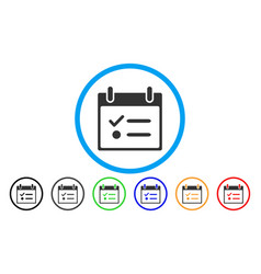 todo list calendar day rounded icon vector image