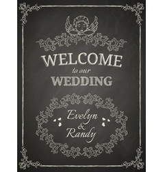 wedding poster vector image