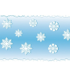 White snow on a blue background an illyusiration vector image