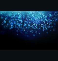 winter card with snowflakes holiday vector image