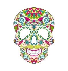 Zentangle stylized color Skull for Halloween vector image