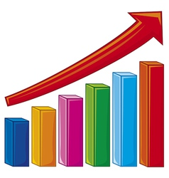 bar graph-increase diagram vector image vector image