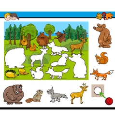 cartoon activity for kids vector image vector image