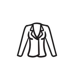 jacket sketch icon vector image