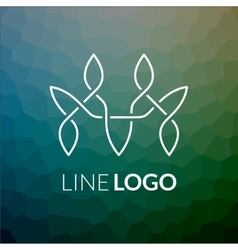 Line art logo icon concept for design vector image vector image