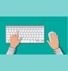 modern computer keyboard and mouse vector image