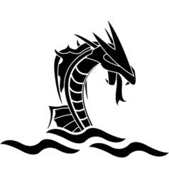 sea monster vector image vector image