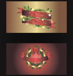 Set of two separated christmas banners vector image