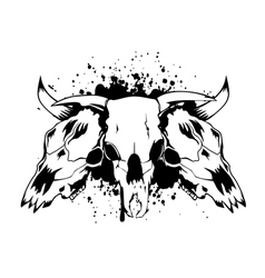 skull bull 3 vector image