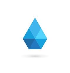 Water drop symbol crystal logo design template vector image vector image