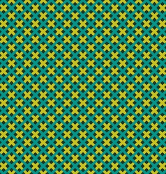 Weave seamless pattern Green and yellow flat vector image vector image