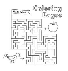 cartoon bird maze game vector image vector image