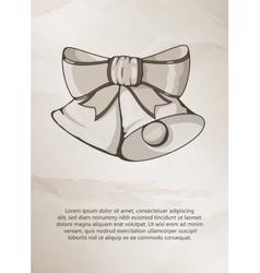 Christmas bells on grunge background Vintage vector image vector image