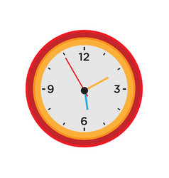 clock wall round time isolated white icon watch vector image vector image