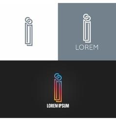 letter I logo alphabet design icon set background vector image